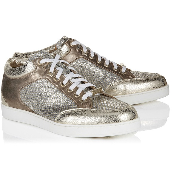 4e7e5dd448 Jimmy Choo Shoes | Miami Glitter Sneakers Size 405 | Poshmark